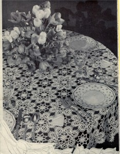 Tulip Tablecloth Crochet Pattern