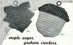 maple leaf and acorn potholder pattern