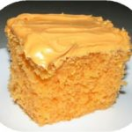 Easy Halloween or Fall Double Orange Cake Recipe
