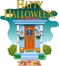 happy halloween porch