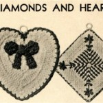 VTNS Fan Freebie Friday – Vintage Diamonds and Hearts Potholder Crochet Pattern