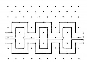 Huck weaving pattern