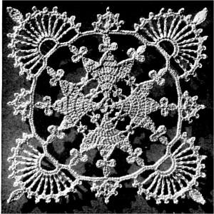 Lace Valentine Bedspread Crochet Pattern Motif