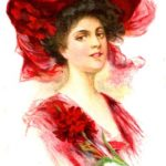 Lady in Red Postcard for Go Red For Women