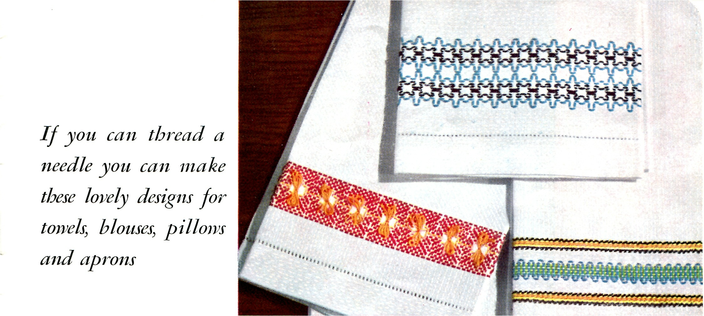 Swedish Embroidery Huck Weaving Instructions And Free Design