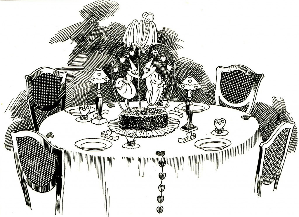 1922 Valentine Romantic Dinner Table Recipes