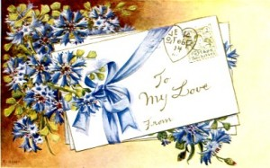 Victorian Valentine Post Card to my love
