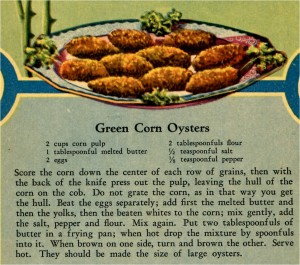 Green Recipes Corn Oysters
