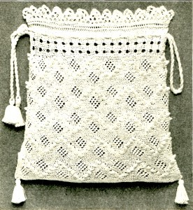 Vintage Crafts and More - Antique Knitted Bag Pattern