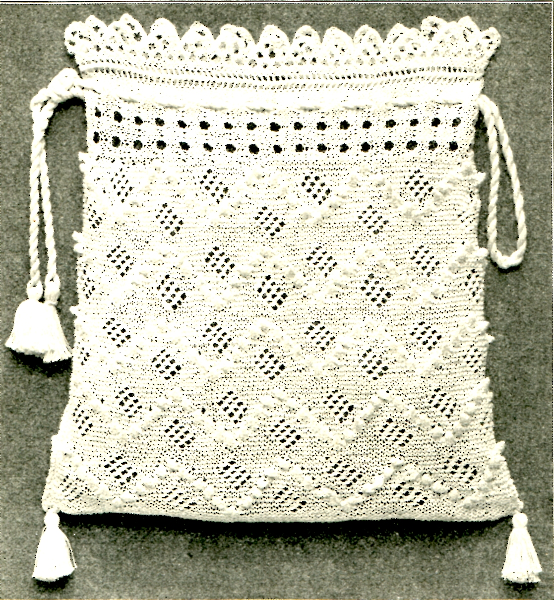 Vintage Knitted Bag Pattern Archives - Vintage Crafts and More