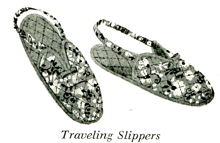 Vintage Traveling Slippers and Espadrilles Sewing Pattern - Vintage ...
