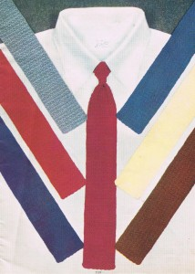 Knitted and Crochet Tie Pattern - Gifts for Dad - Vintage ...