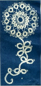 Tatting Flower Pattern for Applique