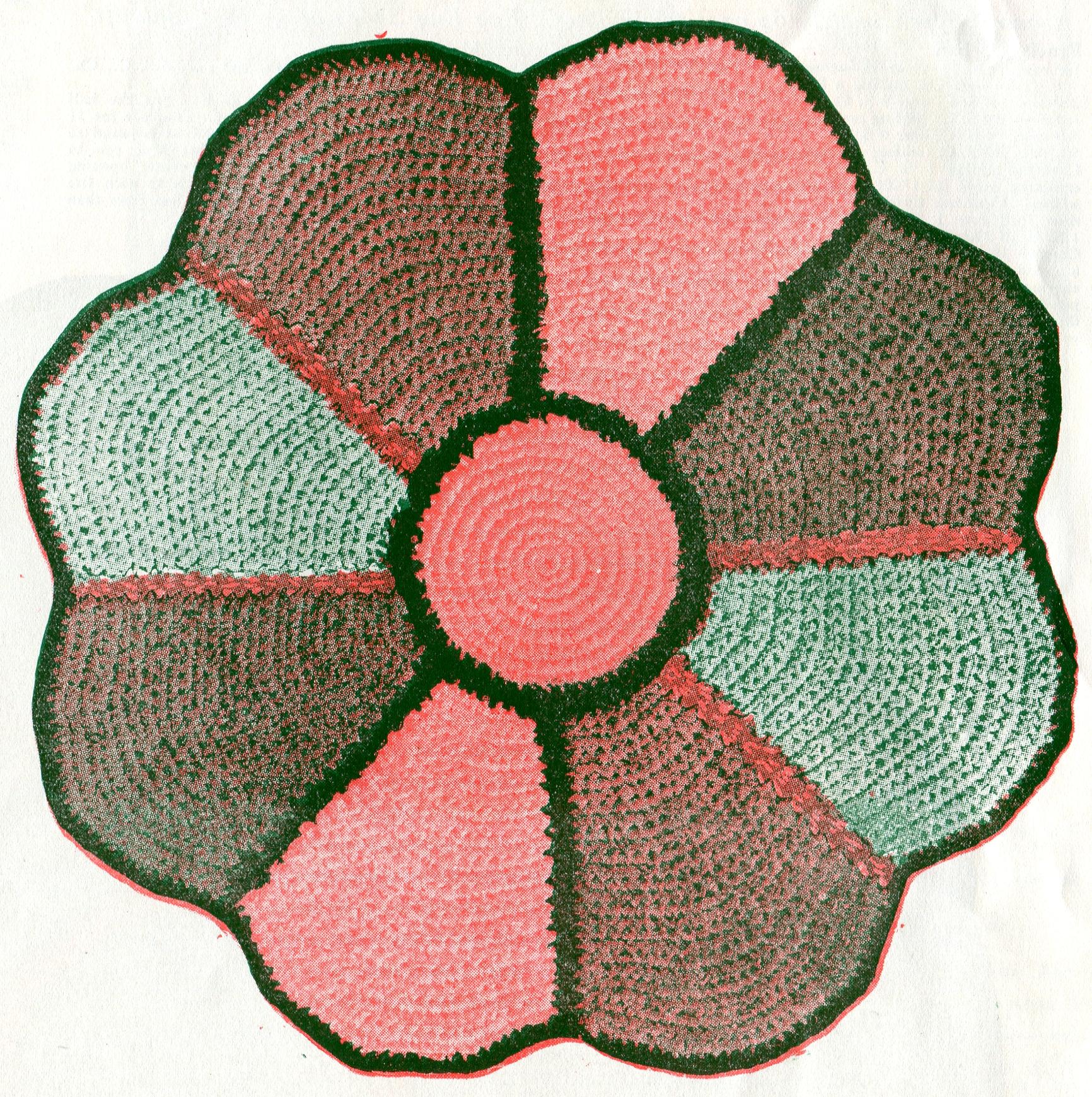 Vintage Craftore Crocheted Rag Rug Pattern