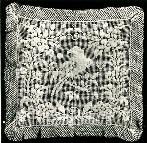 Vintage Crafts and More Filet Crochet Bird