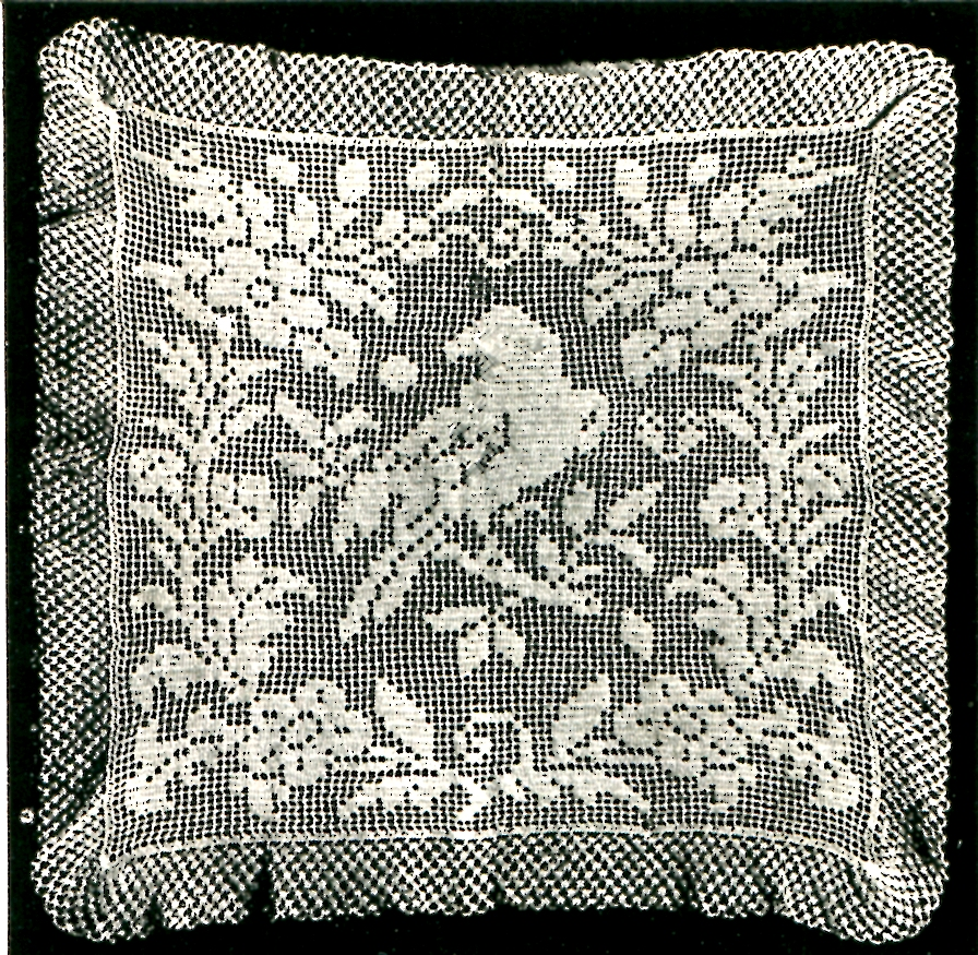 Filet Crochet Pillow With Diagram Electrical Work Wiring Diagram