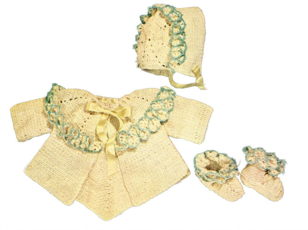 Baby Set Vintage 1950 S Crochet Pattern For A Sacque