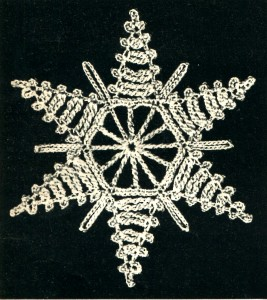 Vintage Crafts and More - Crochet Ornament Pattern Blazing Star Snowflake