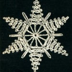 Vintage Thread Crochet Pattern Snowflake Star Ornament