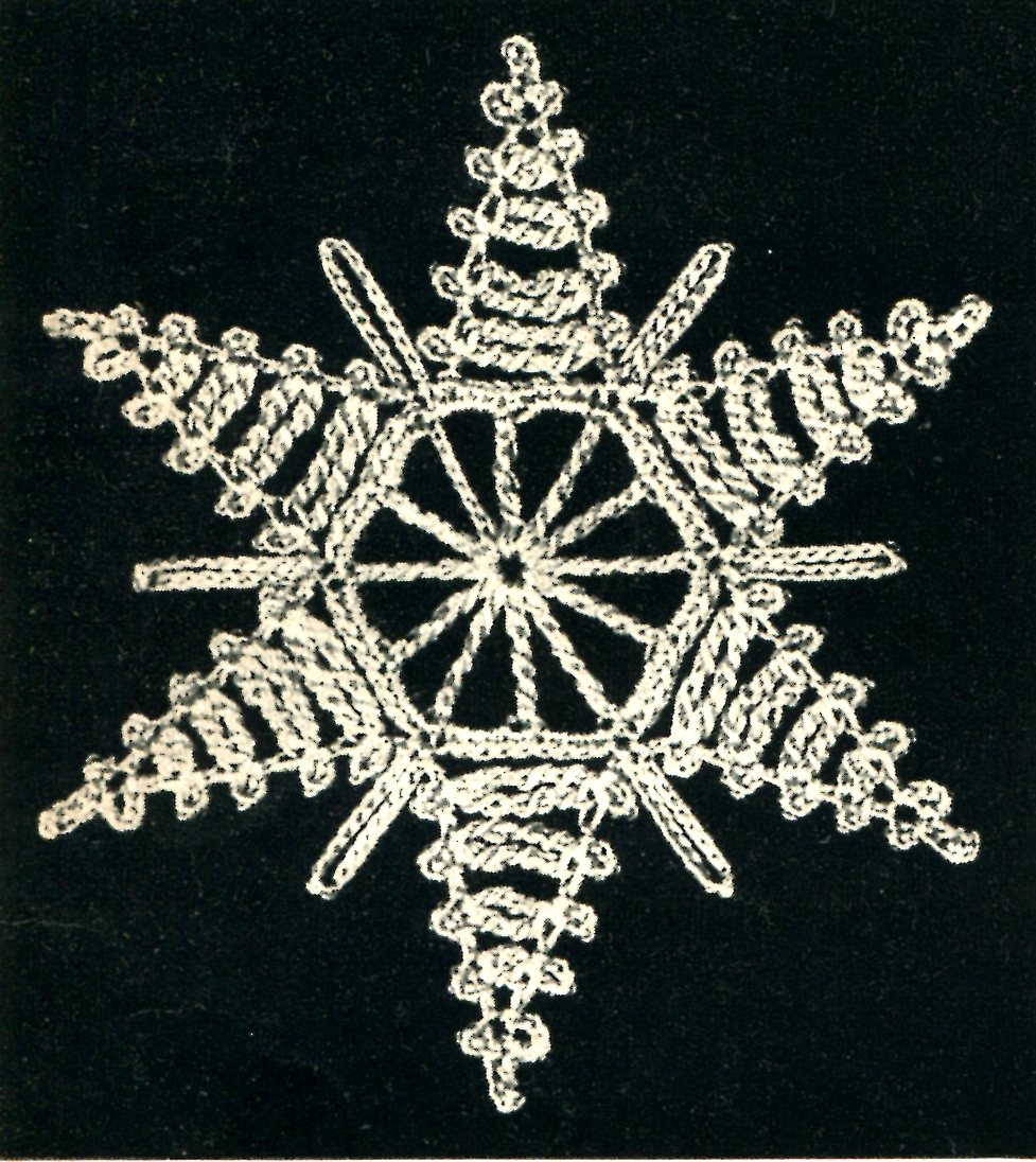 Vintage Crochet Pattern Snowflake Star Ornament And How To
