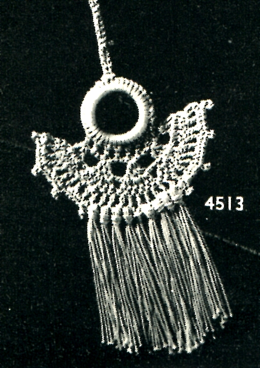 Vintage Crochet Pattern A Curtain Pull Or A Pretty Necklace