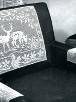 Vintage Filet Crochet Pattern – Reindeer in the Forest