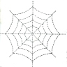 Halloween Spider Web Quilting Design Pattern