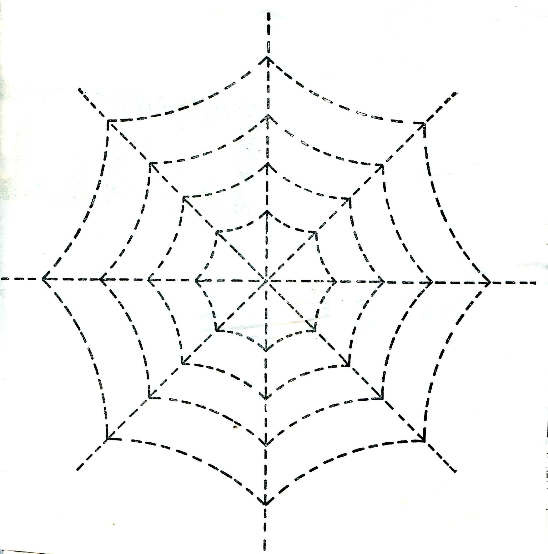 Vintage Crafts And More Halloween Spider Web Quilting Spider Web Color Template