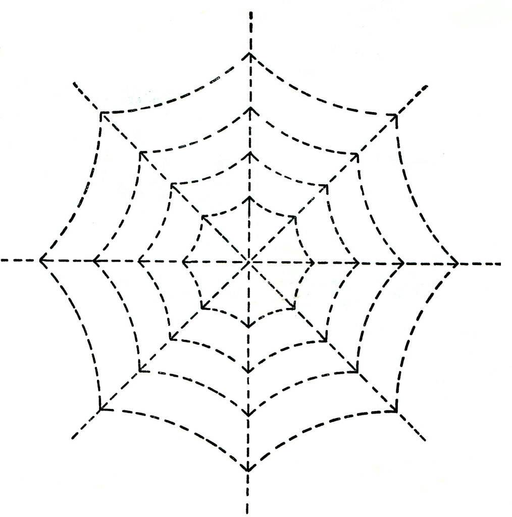Halloween Spider Web Quilting Pattern - Vintage Crafts and More