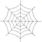 Halloween Spider Web Quilting Design Pattern