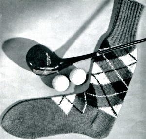 Vintage Crafts and More - Knitted Socks for Men Pattern
