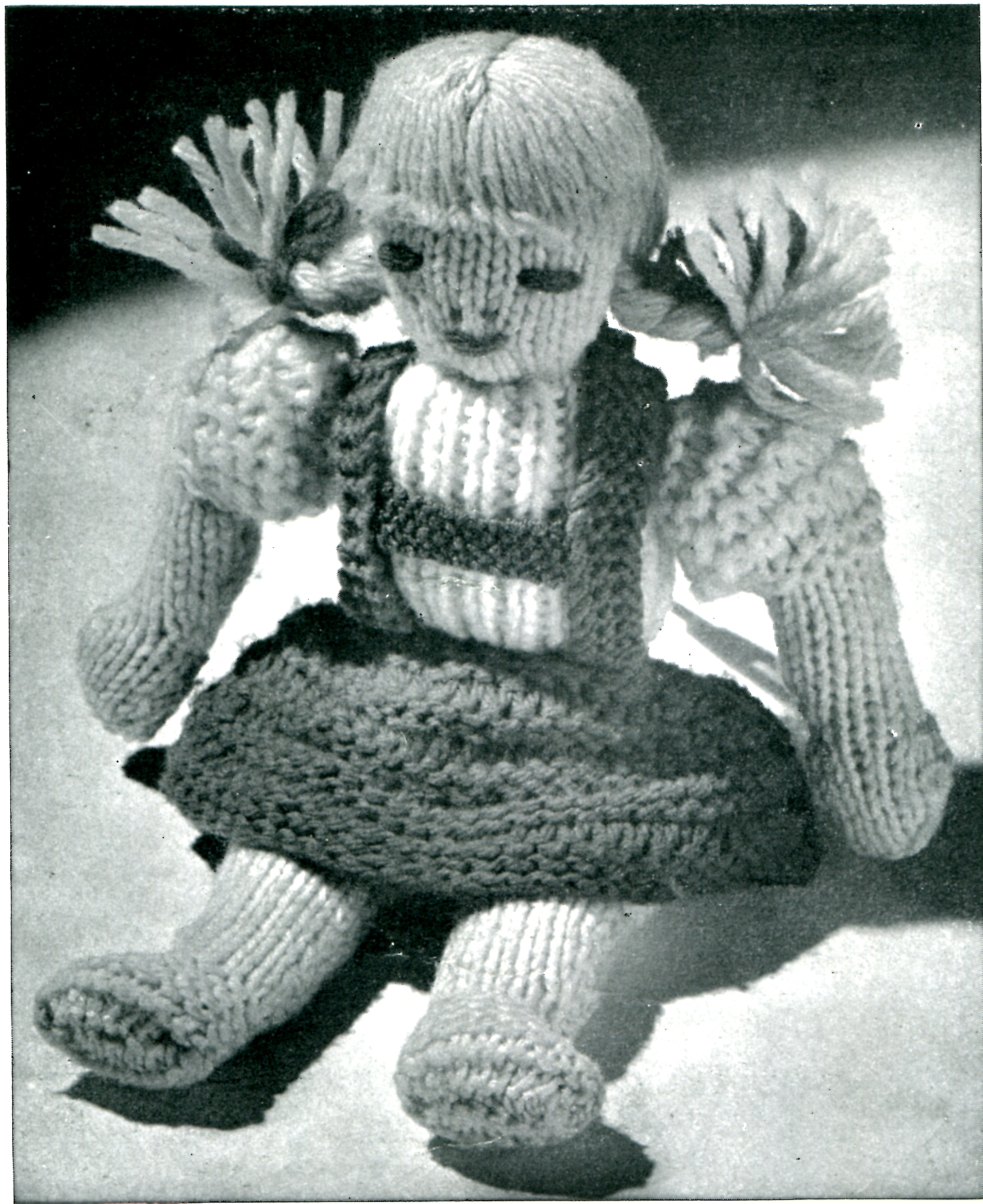 Vintage Knitting Patterns : Vintage Knitted Doll Pattern - VTNS Fan Freebie Friday - Vintage ...