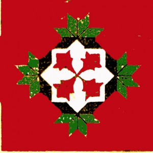 Vintage Crafts and More Poinsettia Quilt Pattern Red and Green 2