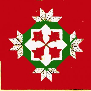 Vintage Crafts and More Poinsettia Quilt Pattern Red and Green 3