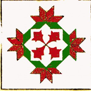 Vintage Crafts and More Poinsettia Quilt Pattern Red and Green