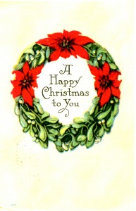 Vintage Crafts and More - Antique Christmas Postcard Poinsettia Wreath