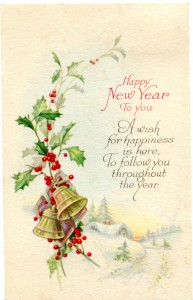 Vintage Crafts and More - Happy New Year Postcard Graphic