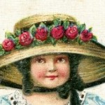 Vintage Post Card Image Girl in an Easter Bonnet