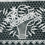 Irish Crochet Pattern – Flower Basket Design Scarf End
