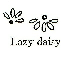 Vintage-Crafts-and-More-Borders-Made-with-Basic-Embroidery-Stitches-Lazy Daisy