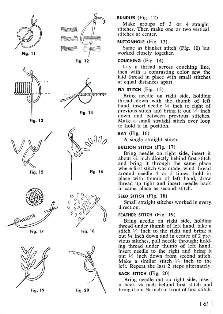 Vintage Crafts and More Embroidery Stitches How To 2