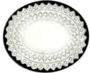 intage Crafts and More - Oval Doily with Knitted Border