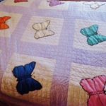 Using Vintage Hankies for a Butterfly Quilt
