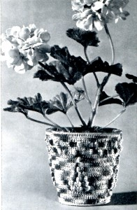 Vintage Crafts and More - Crochet Pattern Flower Pot Cover