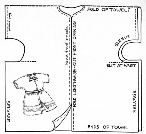 Vintage Crafts and More -  Tot's Robe Cutting Guide
