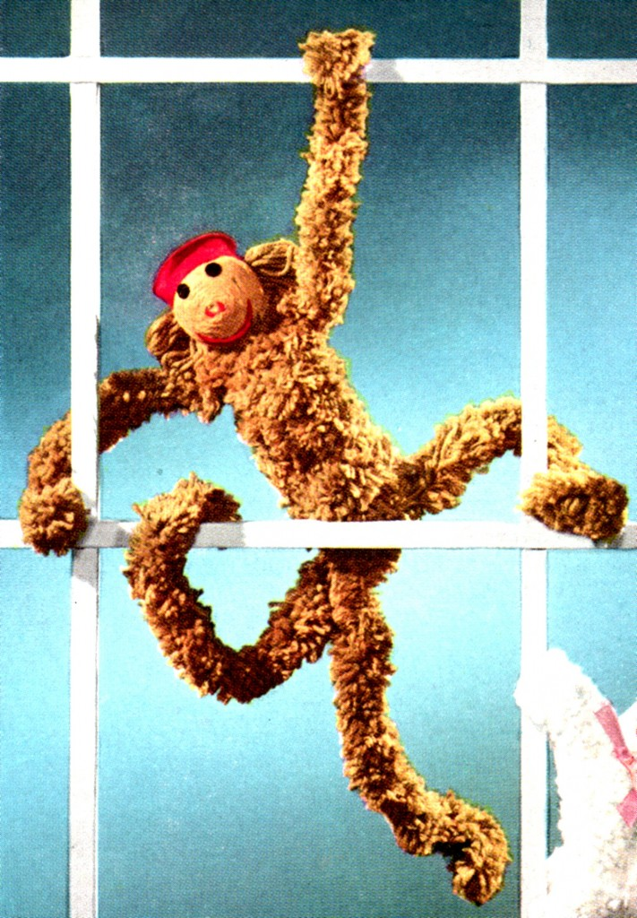 Vintage Crafts and More Monkey Doodle Yarn Doll Pattern