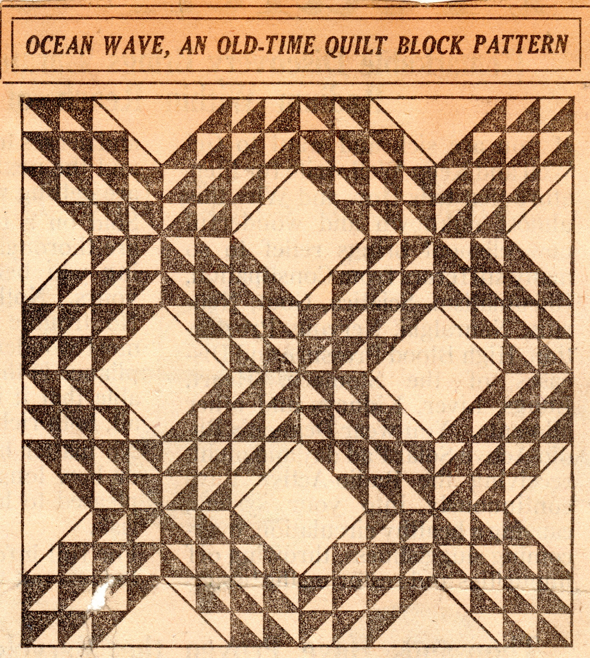 Free quilt pattern archives vintage crafts and more for What to do with an old quilt