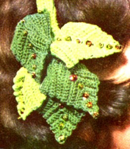 Vintage Crafts and More Clip-on Hat Vintage Crochet Pattern