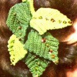 Freebie Vintage Crochet Pattern Headband with Leaves – Clip-on Hat