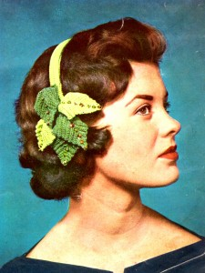 Vintage Crafts and More Clip-on Hat Headband with Leaves Crochet Pattern